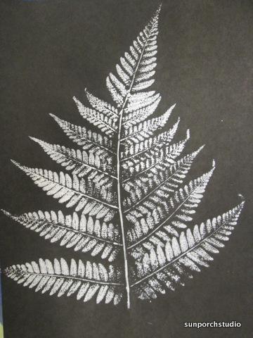 fern print black